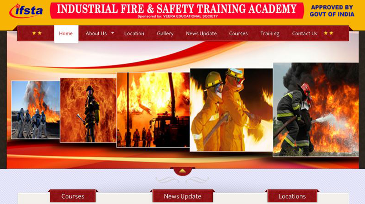 Industrial Fire & Safety Training Academy | Web Apps