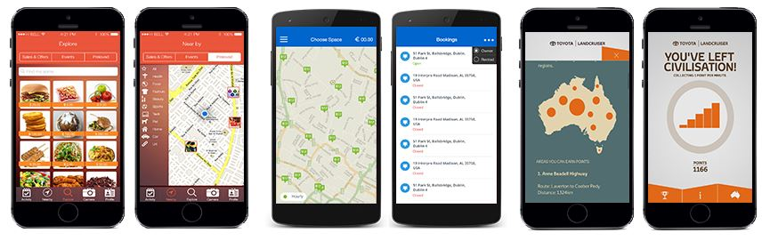 GeoFencing App Screens !
