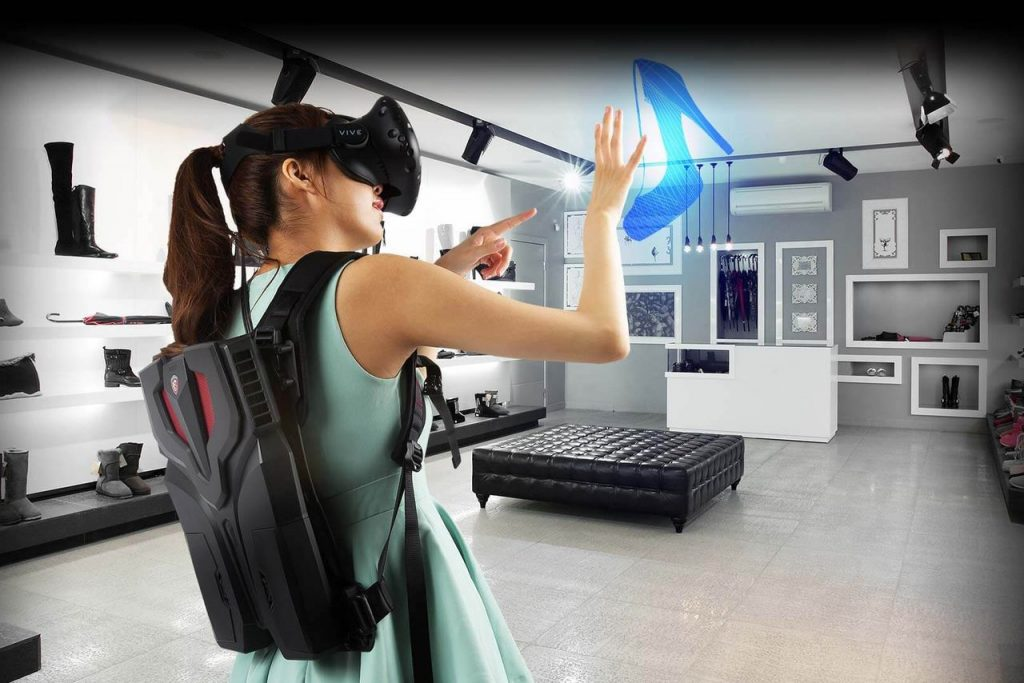 Backpack Virtual Reality Devices