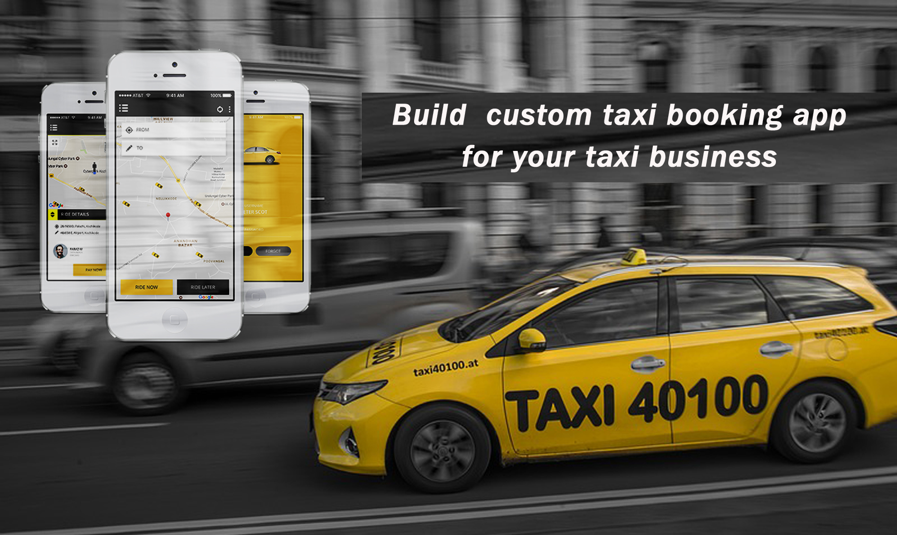 taxi booking app development for taxi business