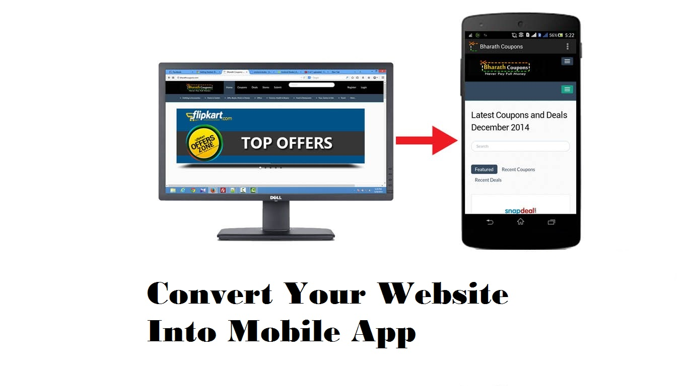 Convert website to mobile app