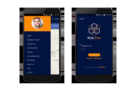Reactrac mobile app - crisis control alert app