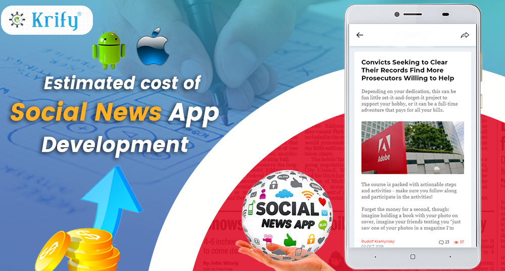 Estimated cost of social news app development