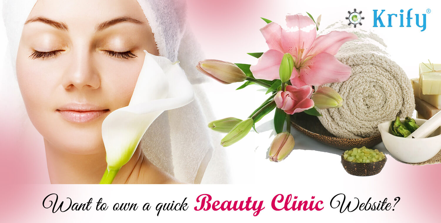 Beauty clinic website development