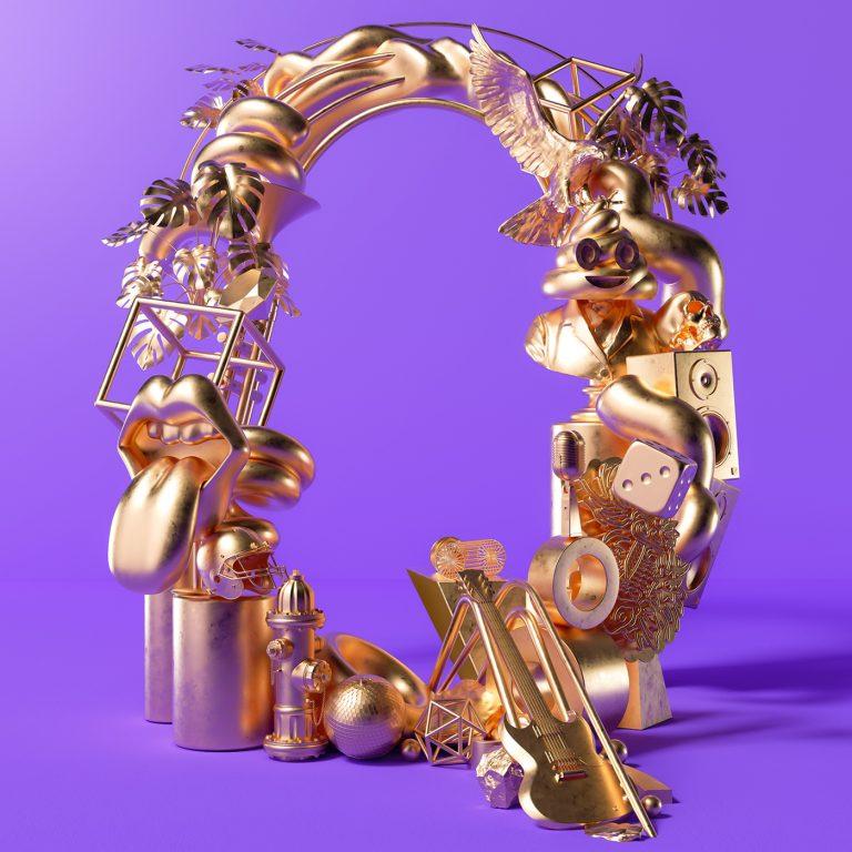 Metallic effect 1