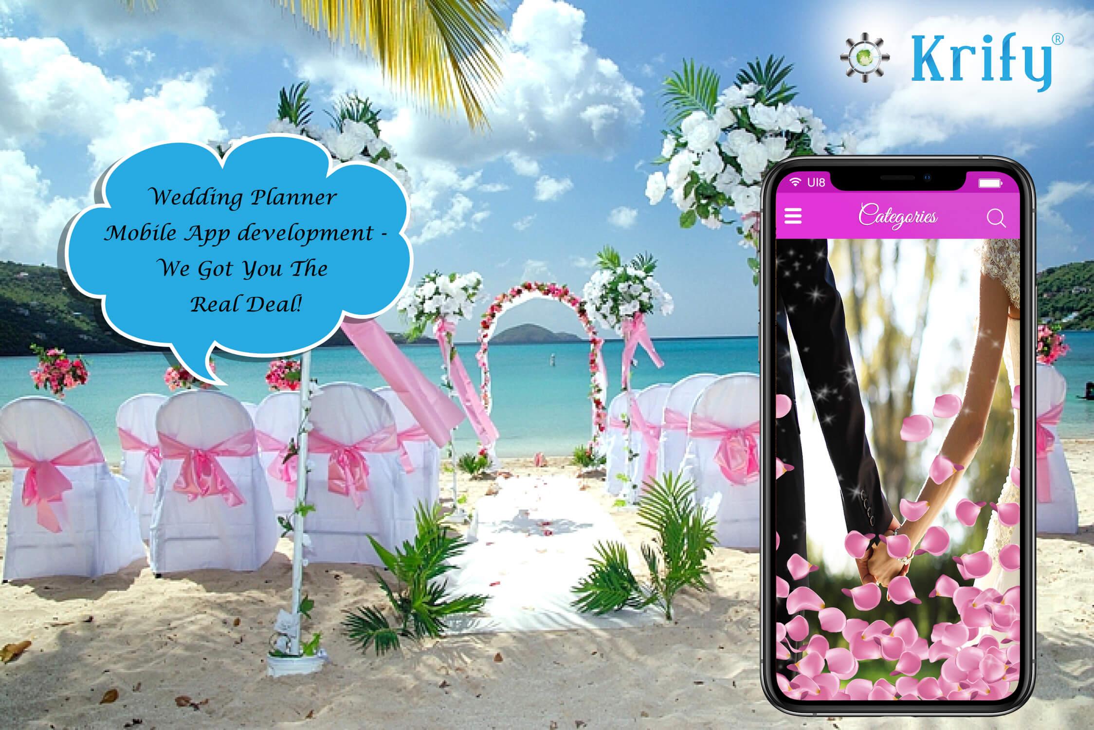 mobile app development for wedding planning app
