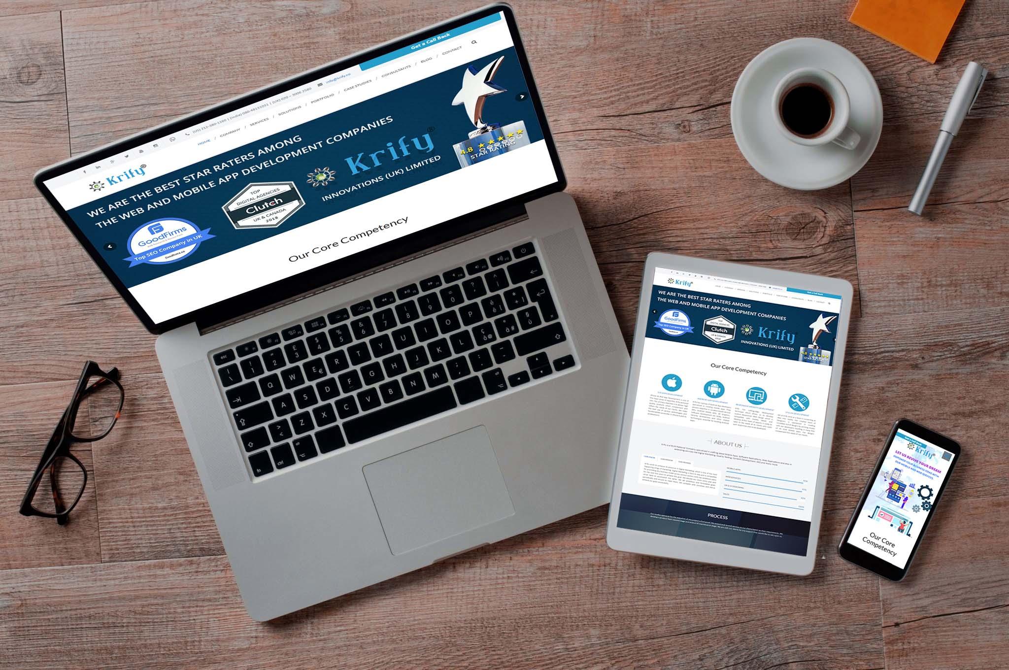 Responsive website Krify
