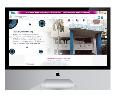 Nayana Eye Care Website