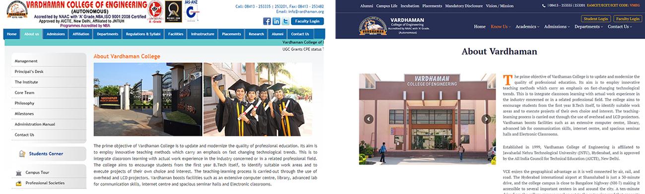 Vardhaman College website