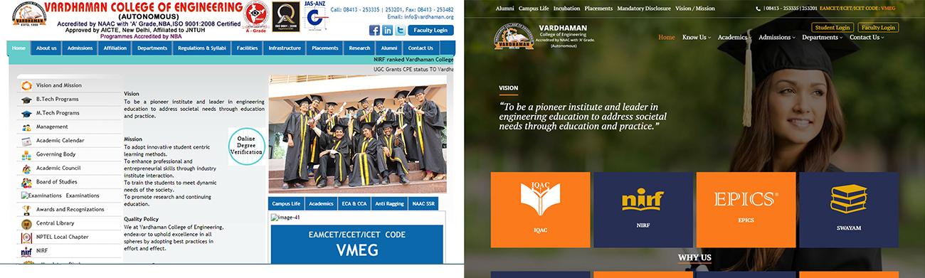 Vardhaman Hyderabad College website