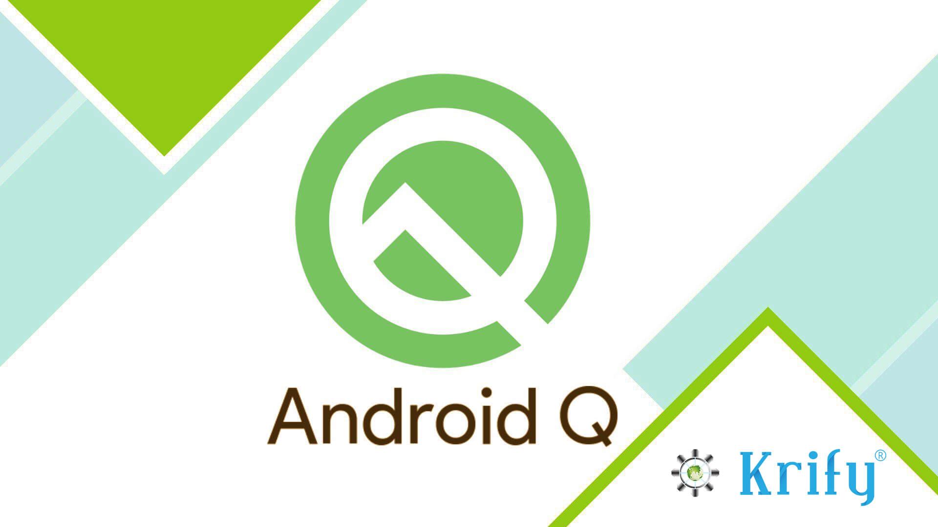 Logo Android Q