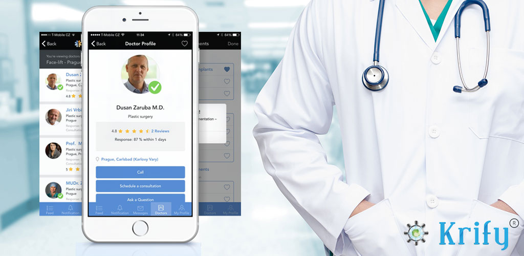 Features to include in the mobile app for doctors | Krify