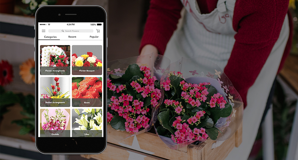 Flower and gift app development