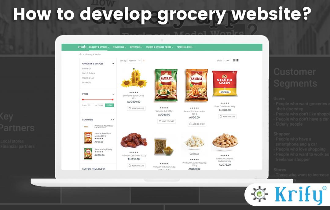 Grocery Website Design Development Company India Uk Krify